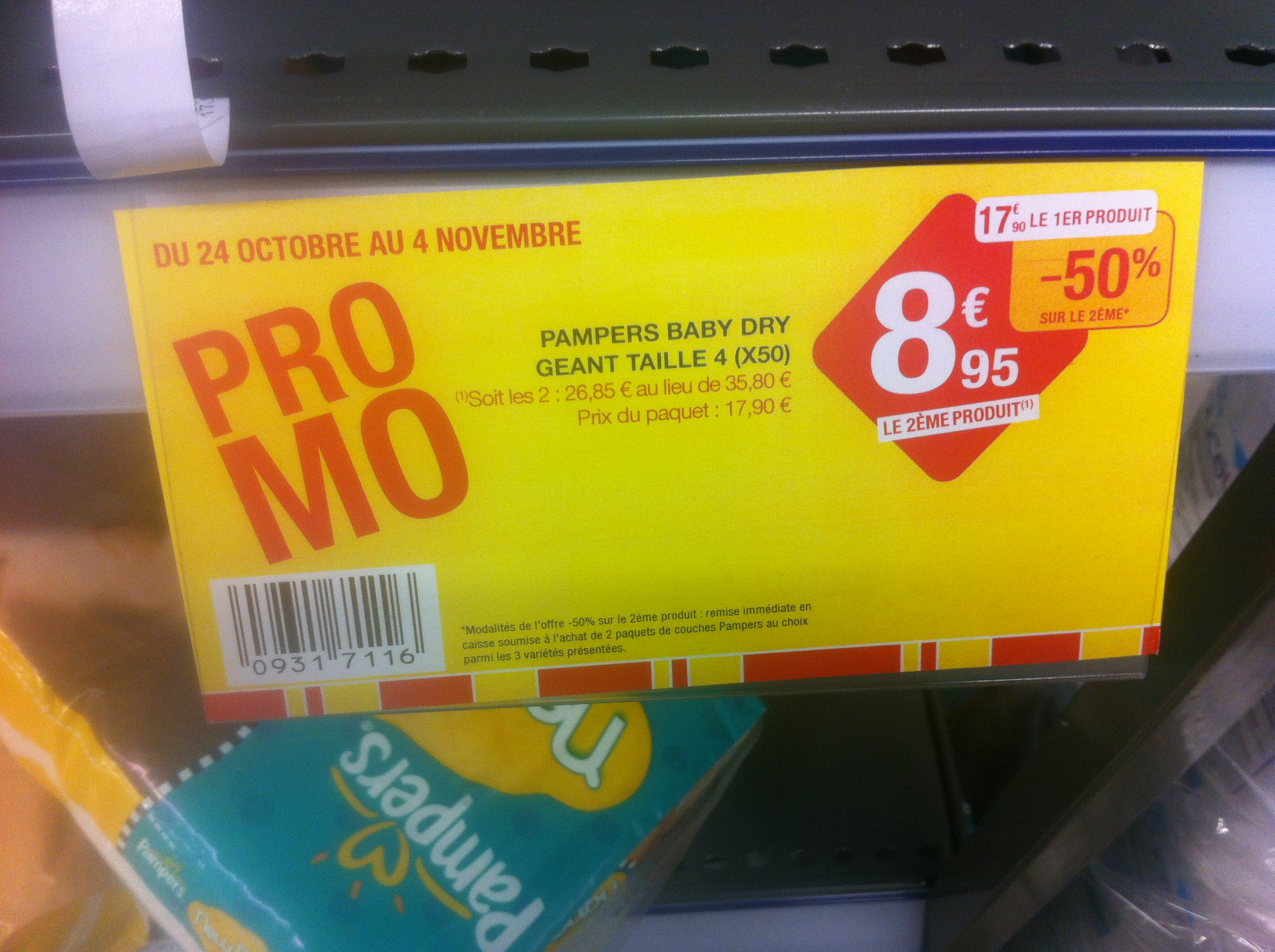 Couche pampers promo - Promo couche pampers auchan ...