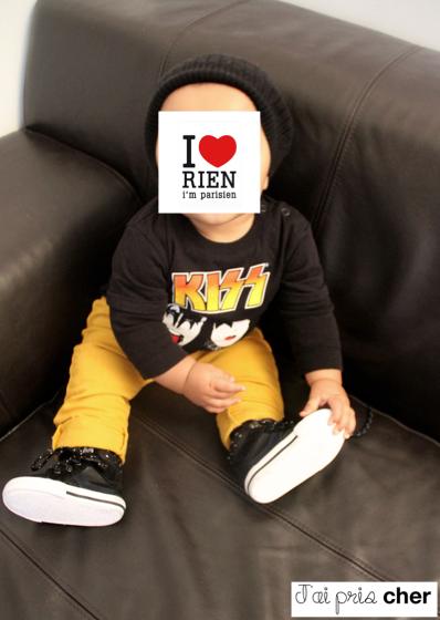 Tshirt Kiss bébé h&m
