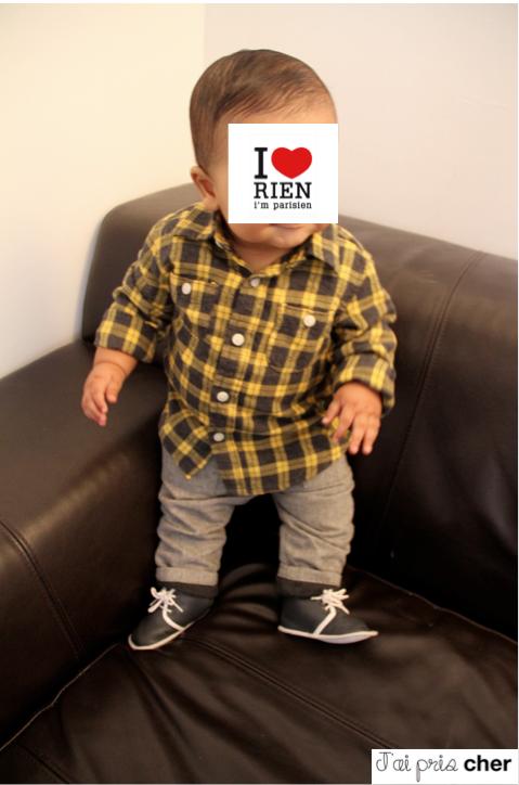 chemise à carreaux bébé
