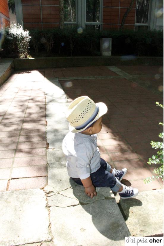 look bébé chapeau