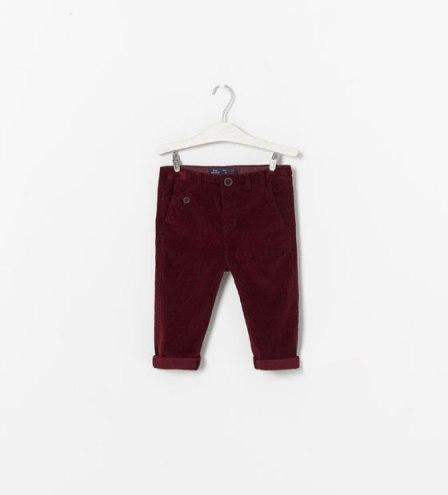 pantalon en velours zara baby