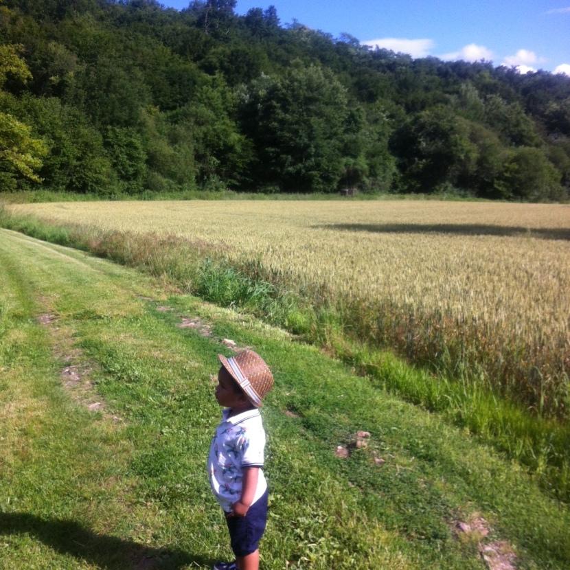 bébé à la campagne