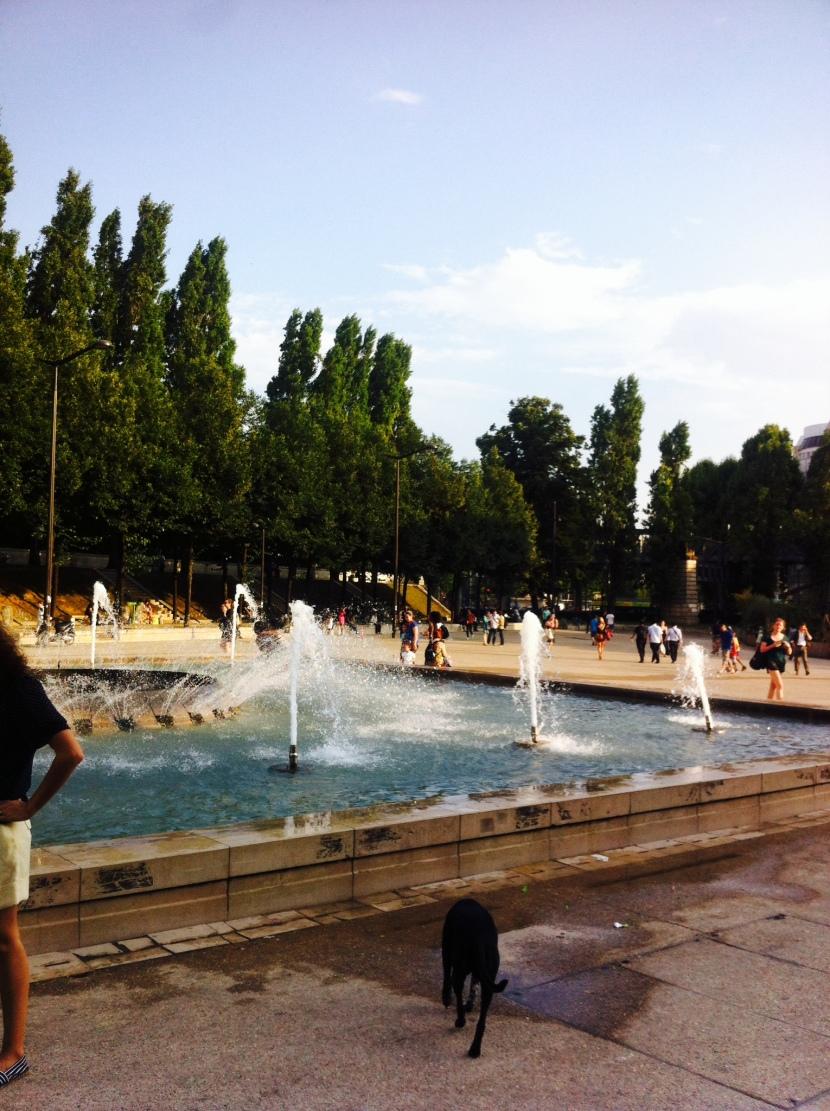 fontaine paris plage