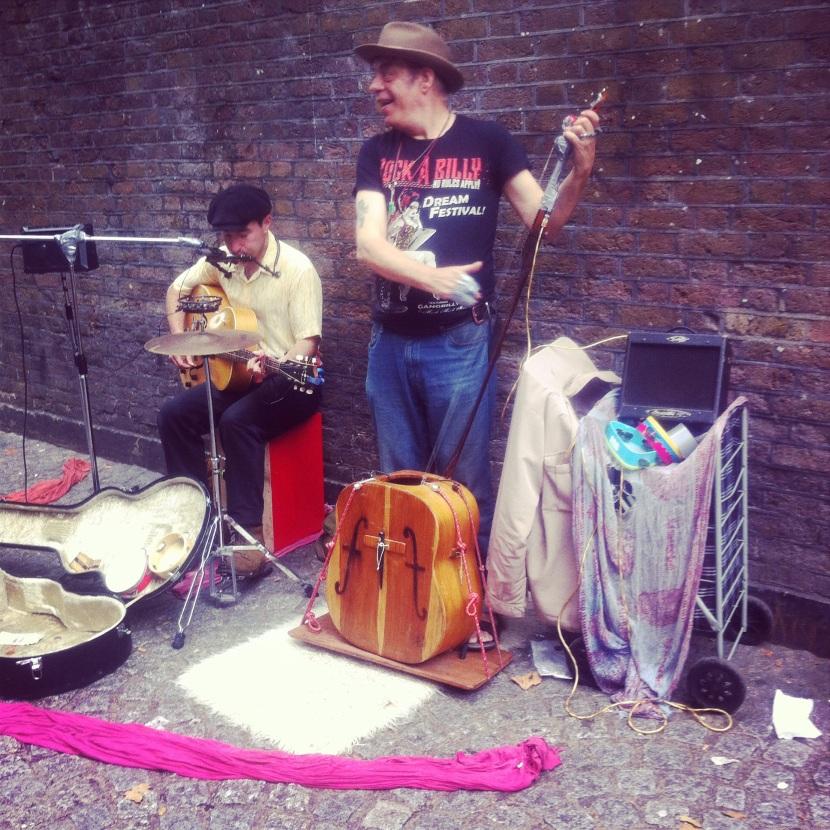 musiciens à Brick lane